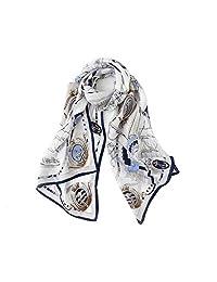 女式丝巾围巾 * 丝绸乔其纱大方形围巾和围巾适用于晚礼服