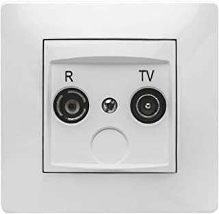 Famatel 65165063电视插座 R-TV 白色 9135, 多色