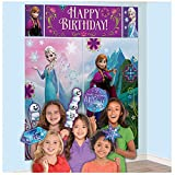"Amscan Disney Frozen Birthday Party Scene Setters Wall Decorating Kit (5 Pack), Multi Color, 59"" x 65""."