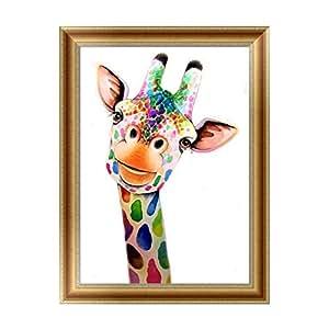 钻石画 6 30 * 40cm Color Giraffe