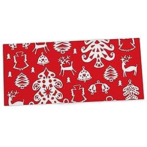 """KESS InHouse Miranda Mol""""Warm Winter Red"""" 白色办公室桌垫,鼠标垫,33 x 56 厘米 (MM4070ADP01)"""