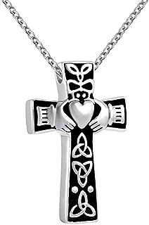 炫酷珠宝不锈钢宗教十字架纪念城吊坠,适用于Ashes 纪念珠宝