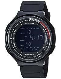 armitron SPORT 男式40/ 8418blk 数字计时黑色树脂表带腕表
