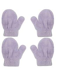 2 双装婴儿男孩女孩手套冬季保暖针织手套