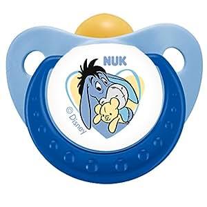 德国NUK安抚奶嘴 迪士尼 小熊维尼 乳胶3号 (颜色随机)(适合18个月以上)