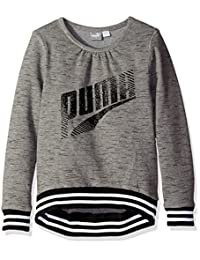 PUMA 女童灰色长袖运动衫