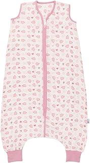 Slumbersac 夏季睡袋 带脚 0.5 托克 - 竹子棉布粉色大象 - 各种尺寸 白色 3-4 Years