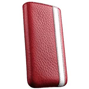 Sena 821694 Corsa Leather Sleeve for Samsung Galaxy S III - 1 Pack - Retail Packaging - Red/White