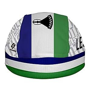 莱索托国旗 ScudPro 头骨帽