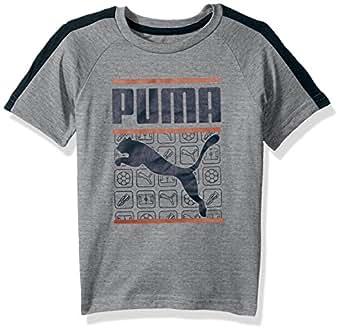 Puma 小男孩 Chase T 恤 浅麻灰色 4