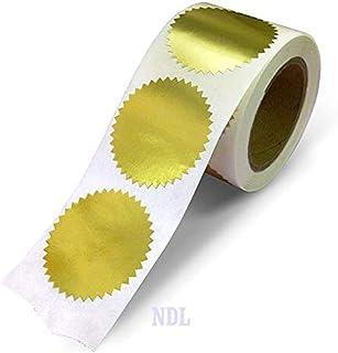 Next Day 标签 5.08 厘米圆形,金色金属包装,信封,证书带锯齿边缘。 每卷 250 张贴纸