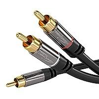 KabelDirekt 0.5米 Y 低音炮音频电缆(1 x RCA 至 2 x RCA) - PRO 系列348  Y 低音炮音频电缆 5m