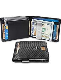 """钱夹钱包带硬币隔层""""LONDON""""RFID Block Minimalist Mini Slim 钱包双折男士带礼品盒"""