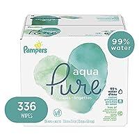 Pampers 幫寶適 Aqua Pure 敏感水嬰兒尿布濕巾,防*無香型 336 Count