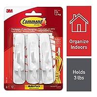 Command Medium Hooks, White, 6-Hook, 2-Pack