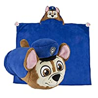 Comfy Critters 狗狗巡逻队多功能填充动物 - 枕头和可穿戴连帽毯 Chase 804134324663