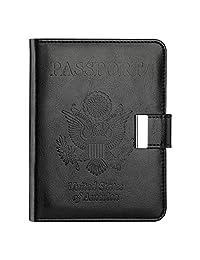 vivefox RFID 旅行护照钱包–钱夹护照夹覆盖文件收纳带2行李标签