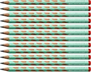 STABILO EASYgraph 人体工学转笔刀 适于惯用右手者,硬度HB,12件装,柔绿色