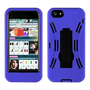 Katinkas USA 2108054074 Hybrid Extreme Cover with KickStand for iPhone 5 -1 Pack - Retail Packaging - Blue