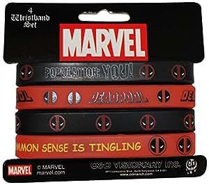 应用 Marvel 极限死侍迷你橡胶腕带(4 件)