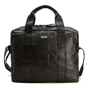 法国LEXON 乐上 LN726N 泰维克商务 13寸电脑包 单肩手提公文包 黑色