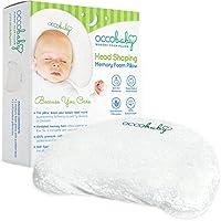 OCCObaby 婴儿头形*泡沫枕头   棉套和竹子枕套   让您的宝宝头部保持圆形   防止婴儿和新生儿扁平头*