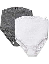 7308 玫瑰太太 亲肤 孕妇内裤 超值2条装 *棉 Dグレーボーダー+ブラックボーダー マタニティL-LL