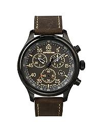 Timex 天美时 男士 T49905 探险计时腕表 Black/Brown