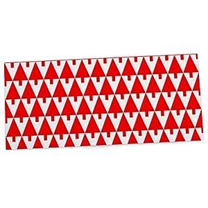 "KESS InHouse Gabriela Fuente""Happy X-Mas Red""几何插图办公室桌垫,花朵,垫,垫,鼠标垫,33.02 x 55.88 厘米"