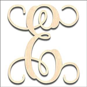 "Back40Life 激光切割藤木交织字母 - 33.02 cm 未抛光 E 19.5"" LC-01-19E01"