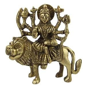 女神杜尔加印度教宗教雕像黄铜雕像