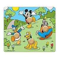 Melissa & Doug 迪士尼米奇老鼠和朋友Jumbo Knob木制拼图