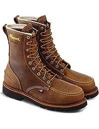 Thorogood 男士 1957 系列 - 20.32 cm 莫卡辛鞋头,MAXWear90 防水*鞋头靴