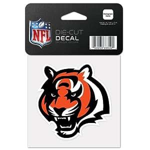 NFL 辛辛那提猛虎队 63041011 完美切割颜色贴花,10.16 厘米 x 10.16 厘米,黑色