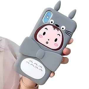 """【CaserBay】 iPhone 手机壳 3D 可爱卡通卡哇伊动物系列软硅胶橡胶手机壳 For (5.8"""") iPhone XS & iPhone X Totoro Kickstand"""