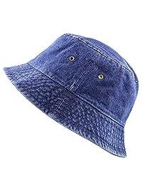 The Hat Depot 高品质水洗棉牛仔渔夫帽