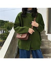 唐谦 宽松长袖毛衣开衫外套春装韩版复古百搭单排扣上衣针织衫女