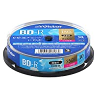 New Victor(Victor) 一次录像用 BD-RVBR130RP10SJ1  10枚(スピンドル) 片面1層(25GB)