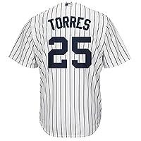 Gleyber Torres 纽约洋基队白色儿童 Cool Base 家用复制球衣