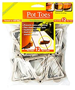 Gardenrite Pot Toes, 12 Pack - in your choice of color 浅灰
