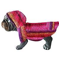 Yani's Gifts 巴哈斗篷狗狗衣服,温暖狗赛拉普,舒适正品巴哈狗连帽衫,狗狗的舒适Jerga斗篷,深粉色彩虹*小狗连帽衫 Pink, Multi-color 中