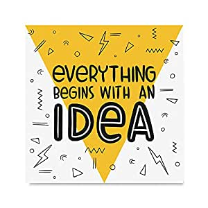 EzPosterPrints 励志引言海报 - 海报印刷 - 家庭办公室装饰墙壁艺术印刷品 Idea 16 x 16 AMZ-INSP-QT10-16X16