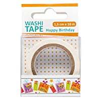 Washi Tape Happy Birthday 1 卷 1.5 厘米 x 10 米