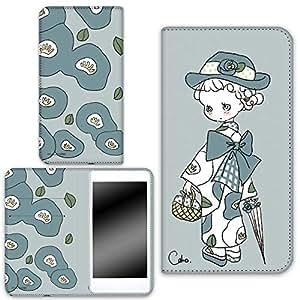 caho 保护套双面印花翻盖和服与花手机保护壳翻盖式适用于所有机型  着物と花D 21_ LG G3 Beat LG-D722J