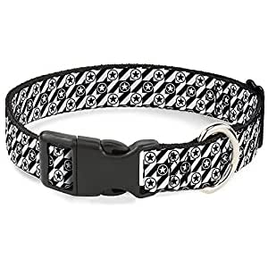 "带扣塑料夹领 Houndstooth Star Black/White 1/2"" Wide - Fits 8-12"" Neck - Medium"