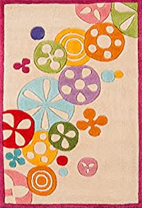 Momeni Rugs Lil' Mo Hipster Hand Made Area Rug 象牙色 2' x 3'