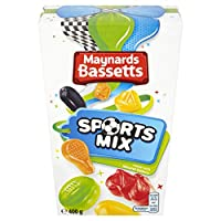 Maynards Bassetts Sports Mix Sweets, 400 g, Pack of 6