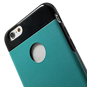 JUJEO For iPhone 6 4.7 Inch Leather Coated TPU Gel Cover - Light Blue - Skin - Non-Retail Packaging - Blue