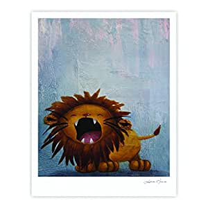 Kess InHouse Rachel Kokko Dandy 狮子画廊艺术印刷品,27.94 x 35.56 厘米