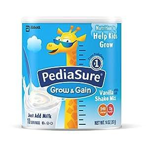 PediaSure 雅培奶粉  香草口味 2 罐-14 盎司罐(396.90克)(包装可能会有所不同)